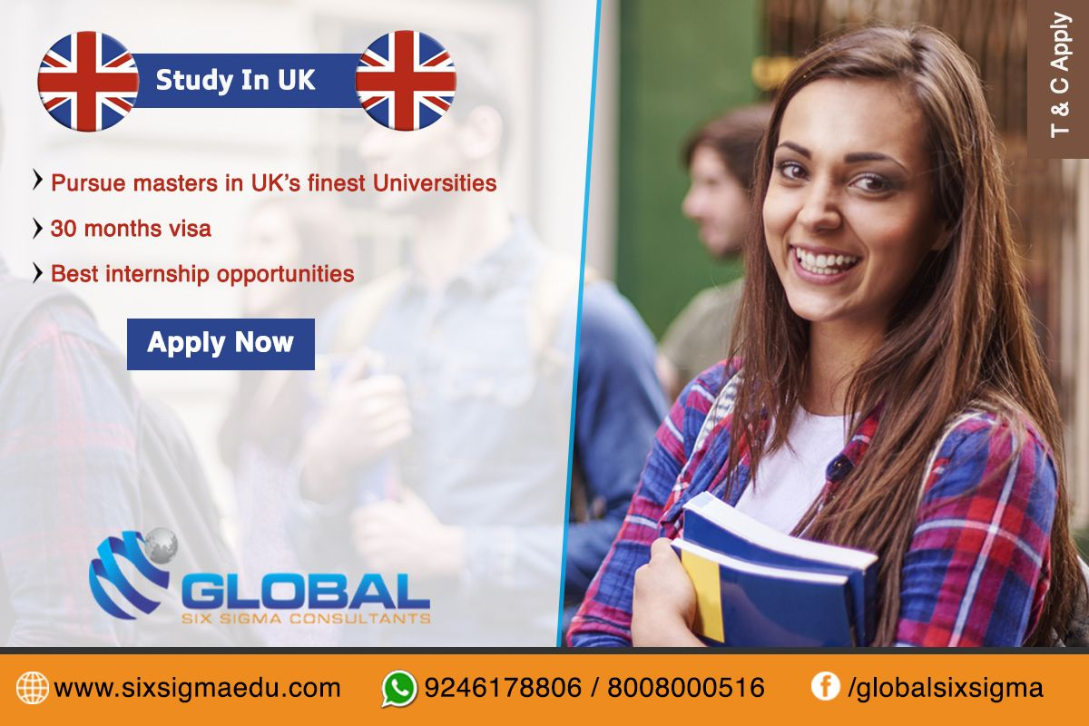 Study in UK without IELTS for Indian students Global Six