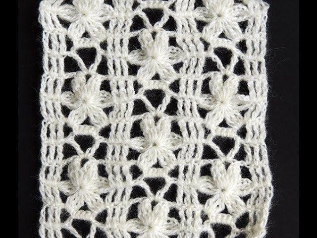 Crochet : Punto Calado Flor de 6 Petalos. Parte 1 de 2 | Crochet ...