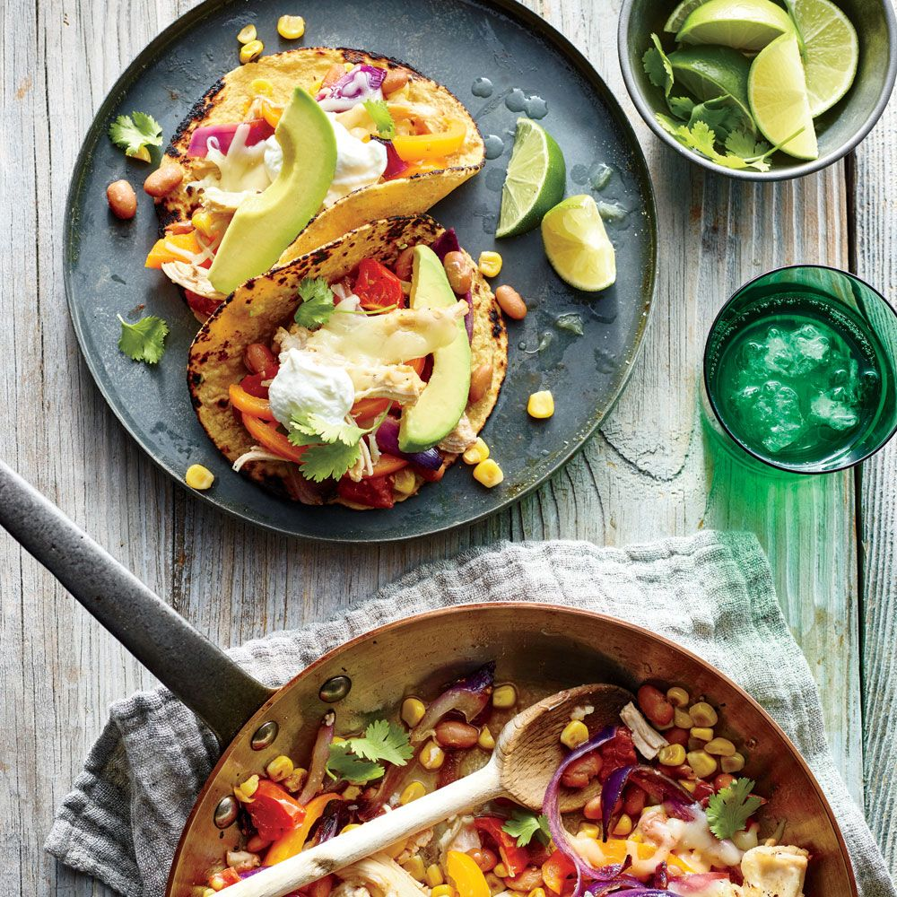 Superfast mexican recipes easy mexican recipes fajitas and cheesy chicken fajitas quick and easy mexican recipes cooking light forumfinder Choice Image