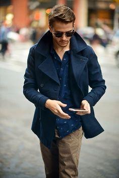 peacoat gq - Google Search | Men's Style | Pinterest | Men's fashion
