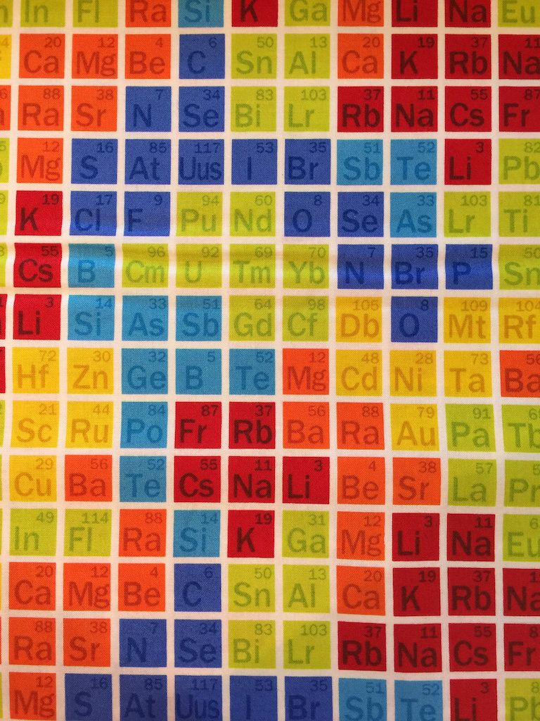 Geek chic periodic table of the elements by studio e by geek chic periodic table of the elements by studio e by bungalowquilting on etsy urtaz Image collections