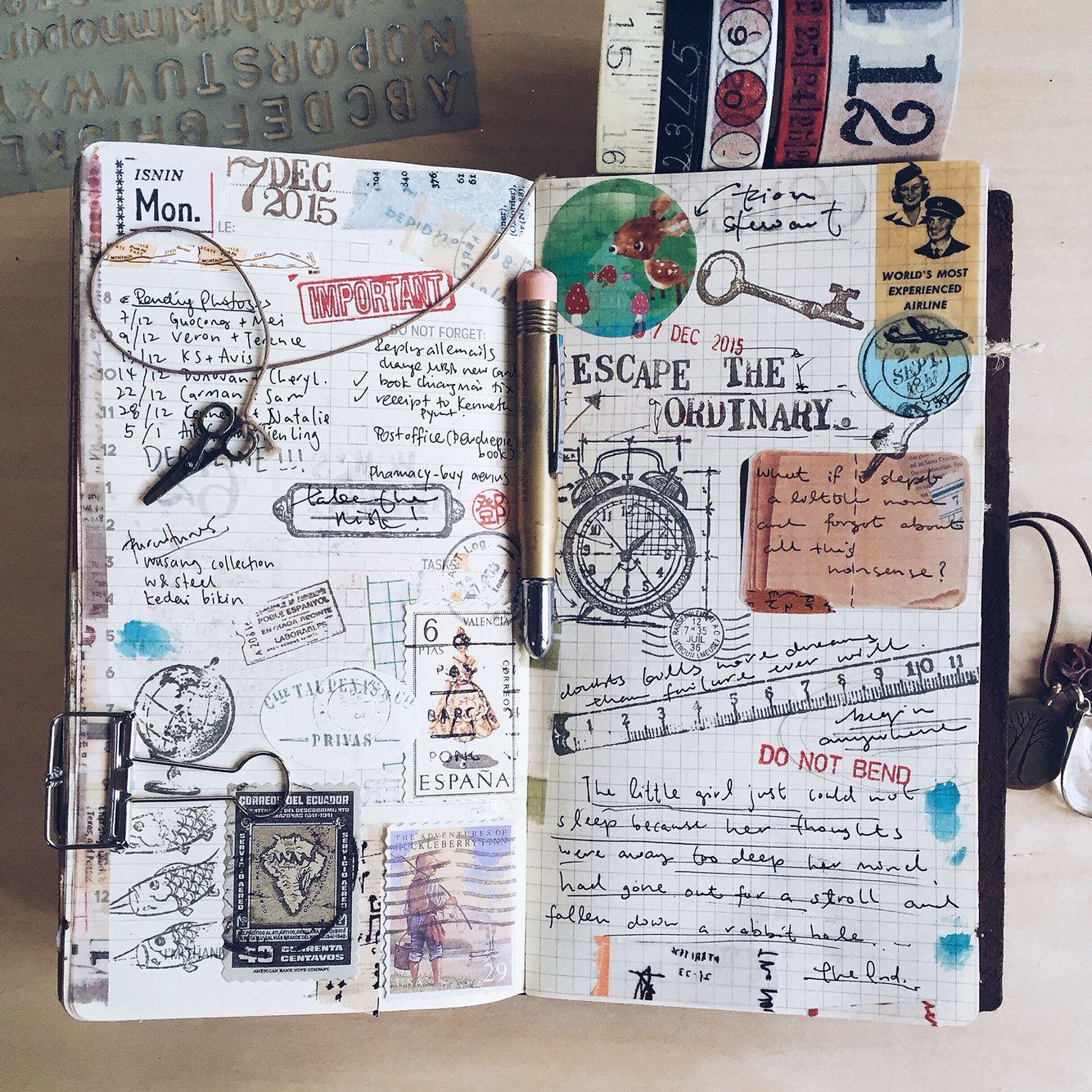 Journaling is fun follow more my journaling entries at my for Paginas decoradas