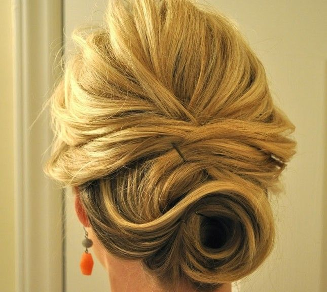 This updo is perfect for gals with short hair beauty from brit updo for short hair tutorial you can also stop at just the half up part solutioingenieria Choice Image
