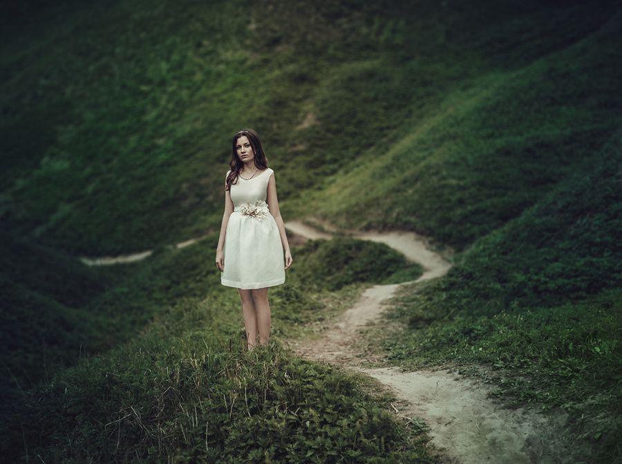 Anna by Sophia Sudarikova on 500px  #alone #beautiful #footpath #girl #grass #green #model #moscow #park #portrait #summer #woman