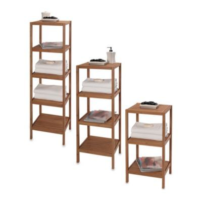 Creative Bath EcoStyles 3-Shelf Bamboo Tower | Tower, Shelves and Bath