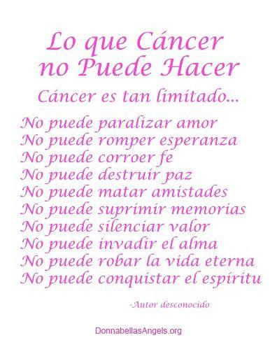 Lo Que Cancer No Puede Hacer Poema Rosado Hot Pink Or Magenta Awarenes Ribbon Gift Breast Quote Quotes Essays Essay