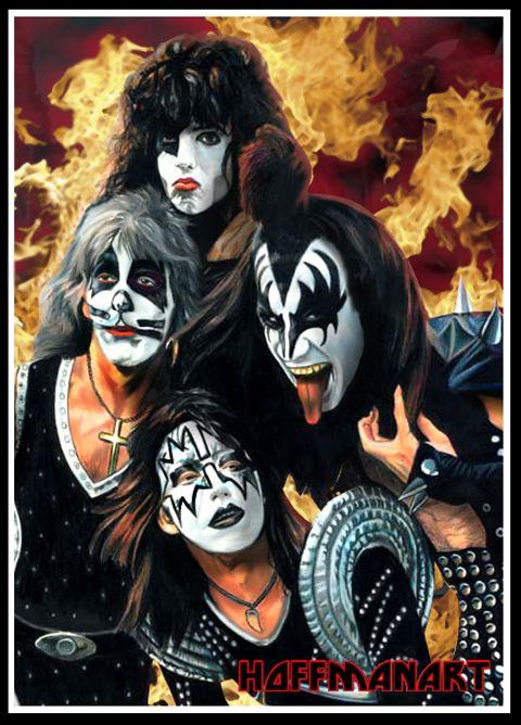 Kiss 75 By Choffman36 On Deviantart Kiss Artwork Kiss Band Kiss Art