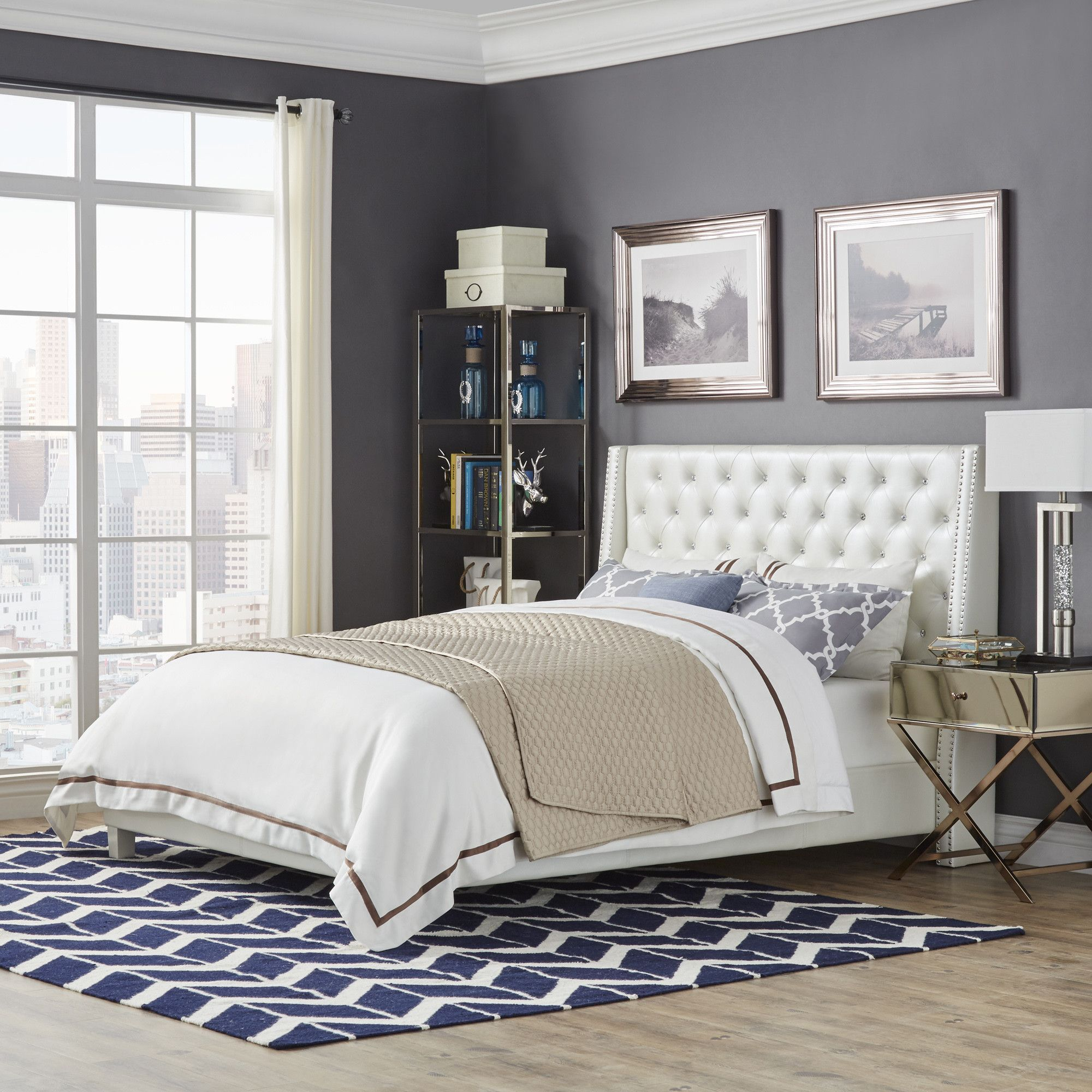 Pixie Castle Upholstered Bed Relaxing bedroom