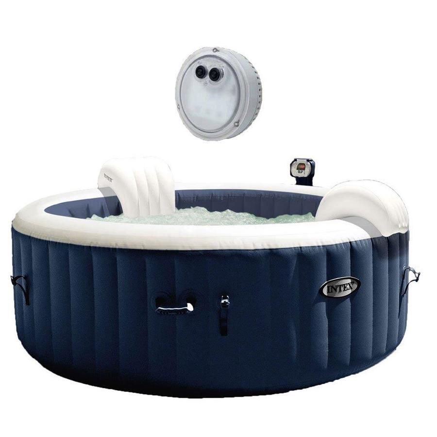 Intex 4 Person 140 Jet Round Hot Tub 129977 In 2020 Round Hot
