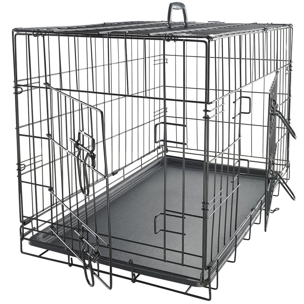 Oxgord 48 Inch Heavy Duty Foldable Double Door Xxxl Dog Crate W Divider Tray For Great Deals Visit Http Extra Large Dog Crate Pet Kennels Large Dog Crate