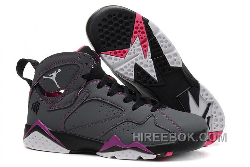 "5e5420ec99cac3 Buy Girls Air Jordan 7 ""Valentines Day"" Dark Grey White-Black-Fuchsia Flash  Sale Top Deals from Reliable Girls Air Jordan 7 ""Valentines Day"" Dark ..."