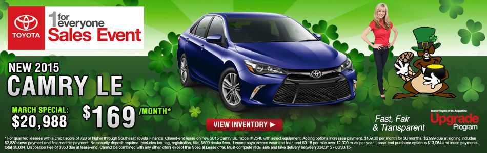 Beaver Toyota Is A New Toyota Dealership And Used Car Dealership Located In  St. Augustine, Florida. We Specialize In Toyota Sales To The St. Augustine  Area, ...