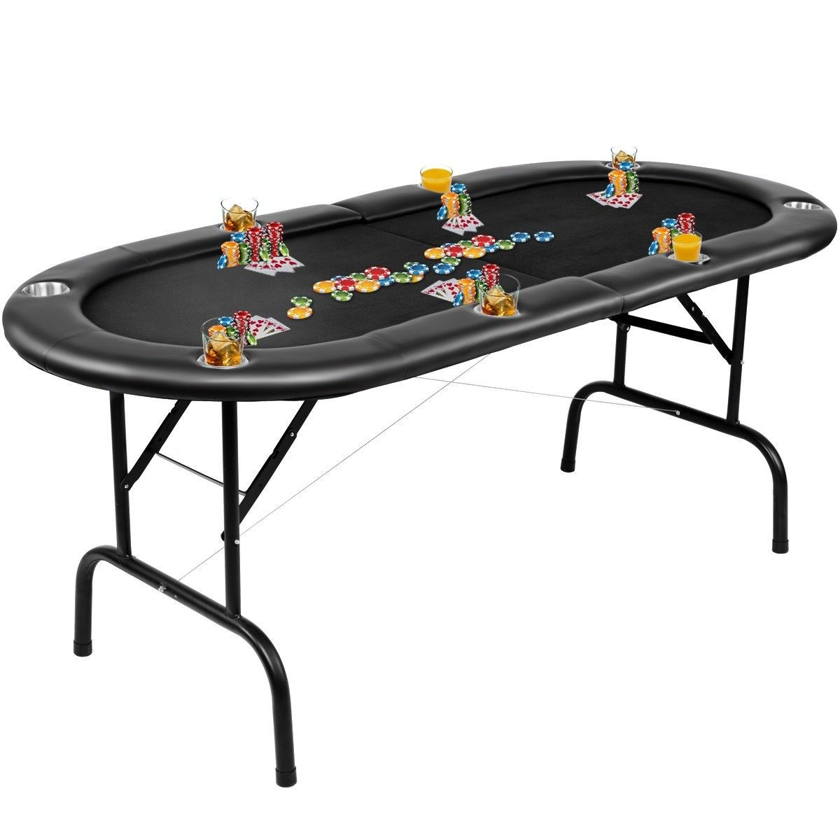 Foldable 8 Player Poker Table W Carry Bag Poker Table Folding Poker Table Poker
