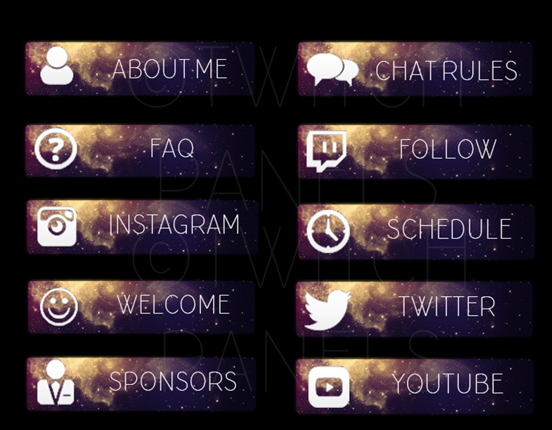 Galaxy panels for Twitch by Brenda-Malfoy deviantart com on