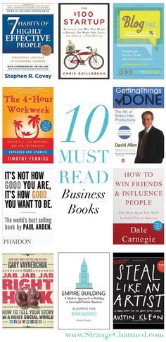 Incroyable My Top 10 Must Read Business Books!