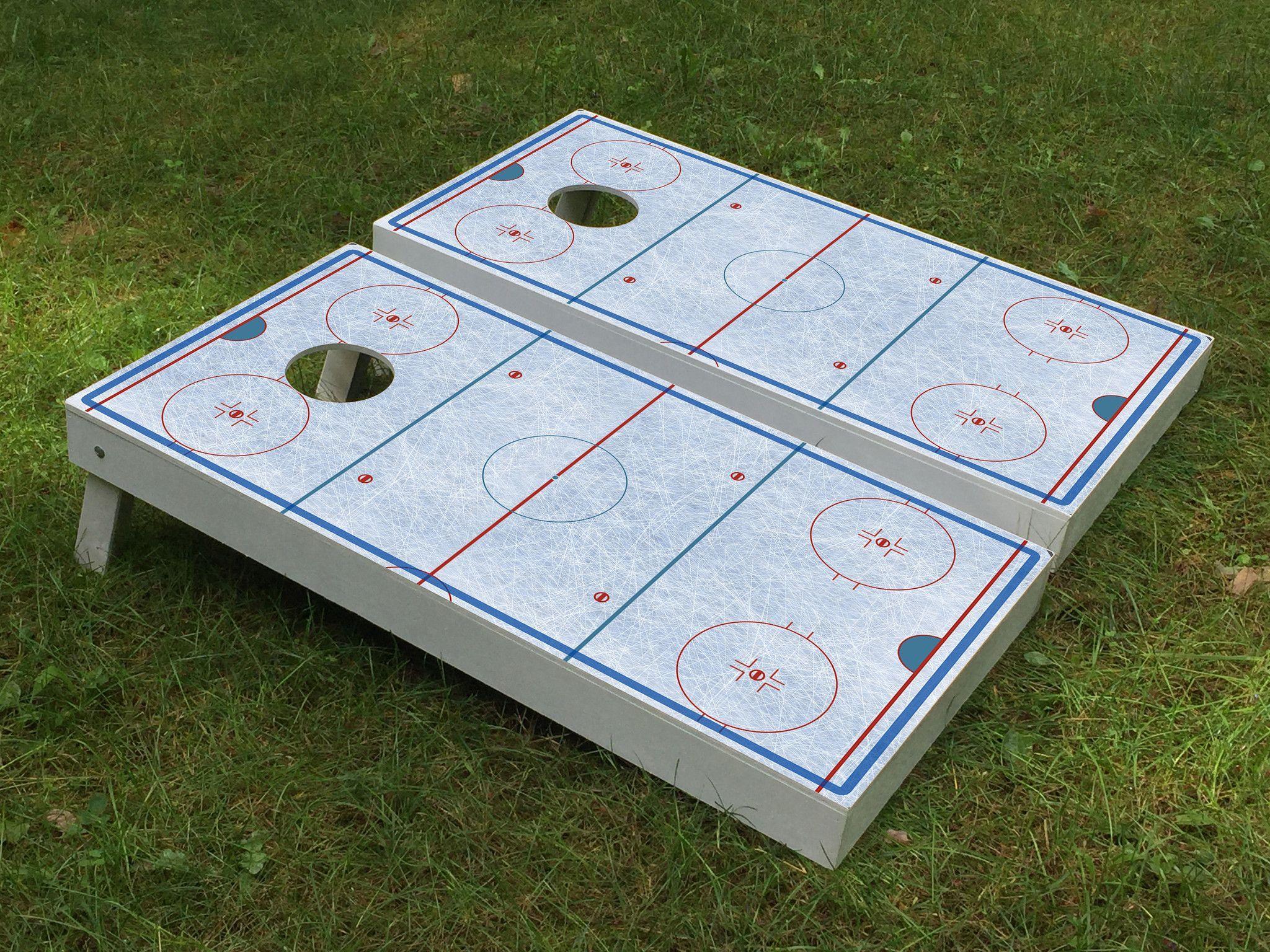 Hockey Ice Rink Cornhole Boards Hockey Birthday Ice Rink Hockey Wedding