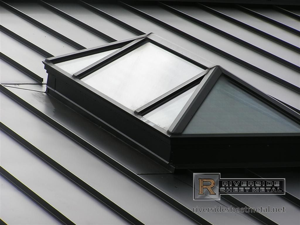 Round Standing Seam Roof Section In Copper New England Skylight Installation Roof Skylight Metal Roof