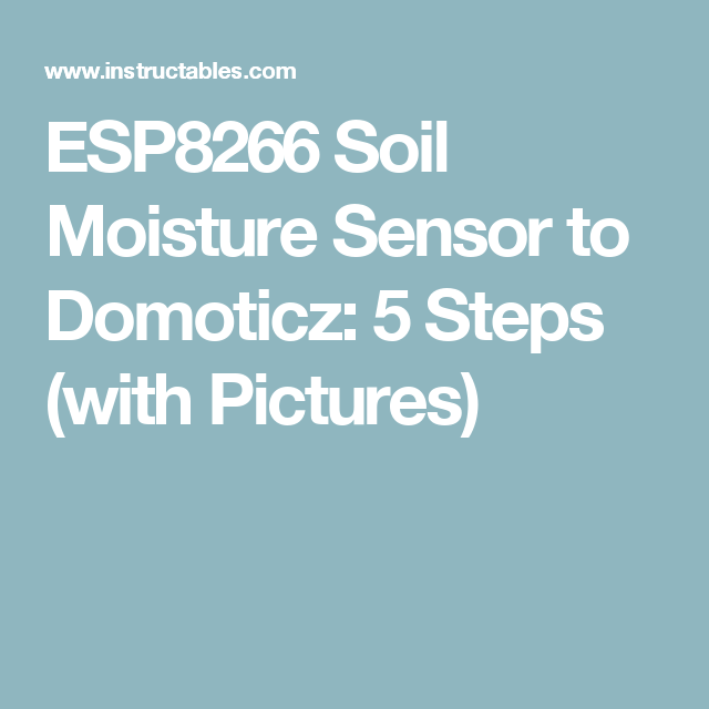 ESP8266 Soil Moisture Sensor to Domoticz | iot | Moisturizer