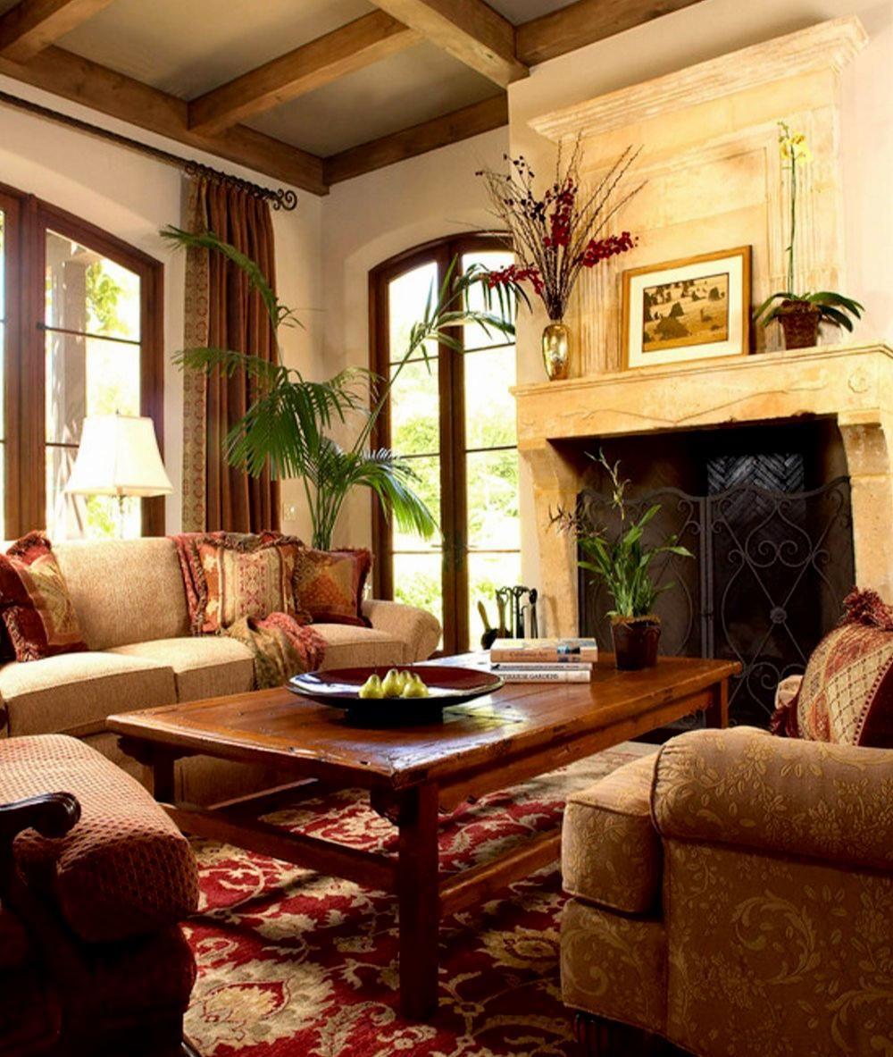 Elegant Living Room Mediterranean