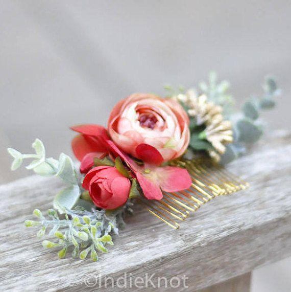 Peigne à cheveux, peigne fleur / Vivien Vintage Rose Gold / mariage / Prom / demoiselles dhonneur / fleur fille / Photoshoot