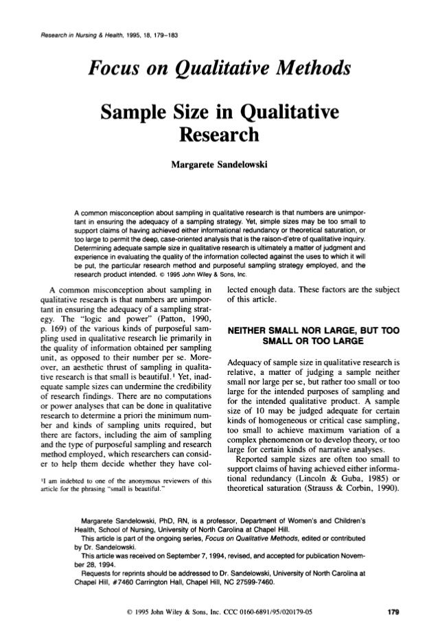 quantitative research paper sample