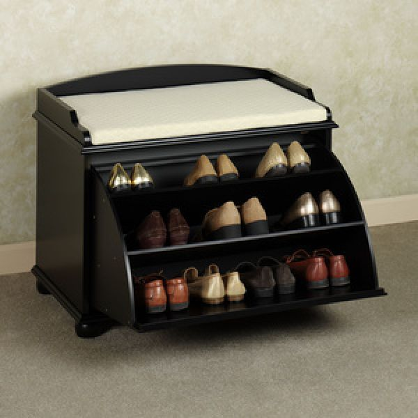 Entryway Shoe Storage Bench Everything Simple Bench With Shoe