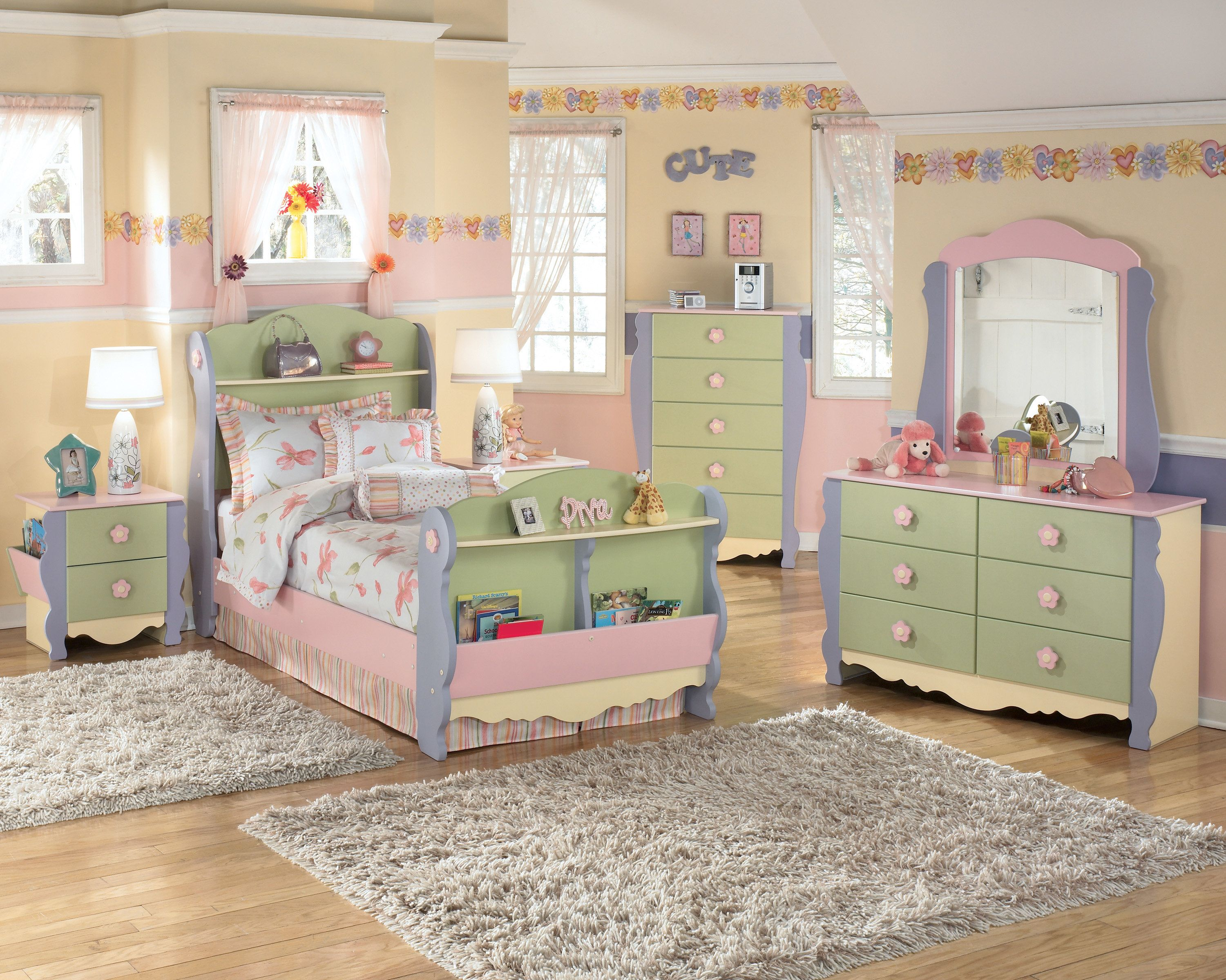 Kids Furniture Signature Design By Ashley Doll House 4 Pc Twin