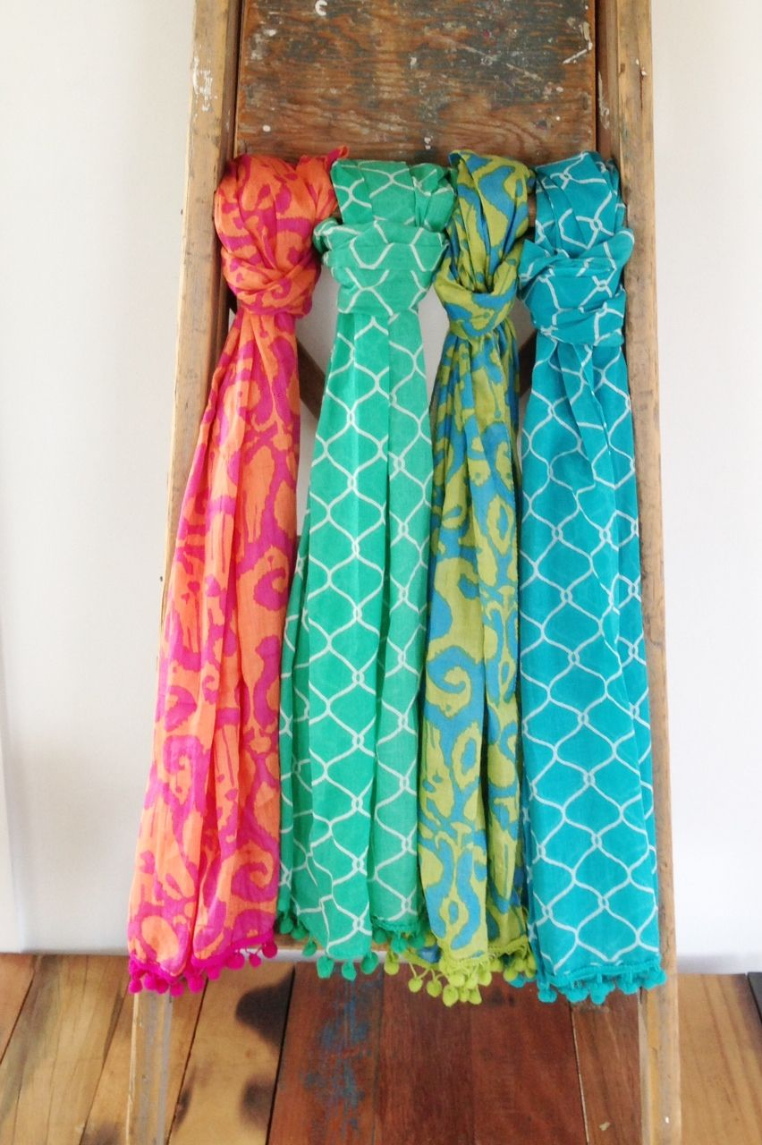 Beautiful Patterned Colourful Cotton Scarves Www