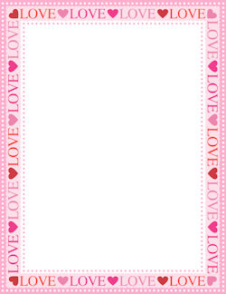 photograph about Valentine Borders Free Printable named Appreciate Border Borders Envelope template printable, Web site