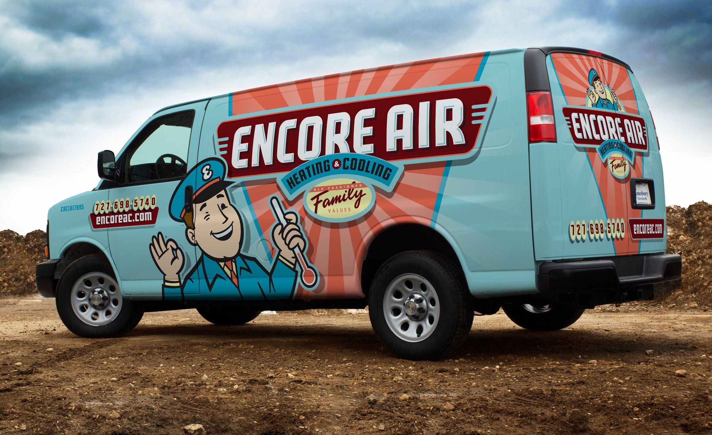 e29fd74a19 Our Best HVAC Truck Wraps