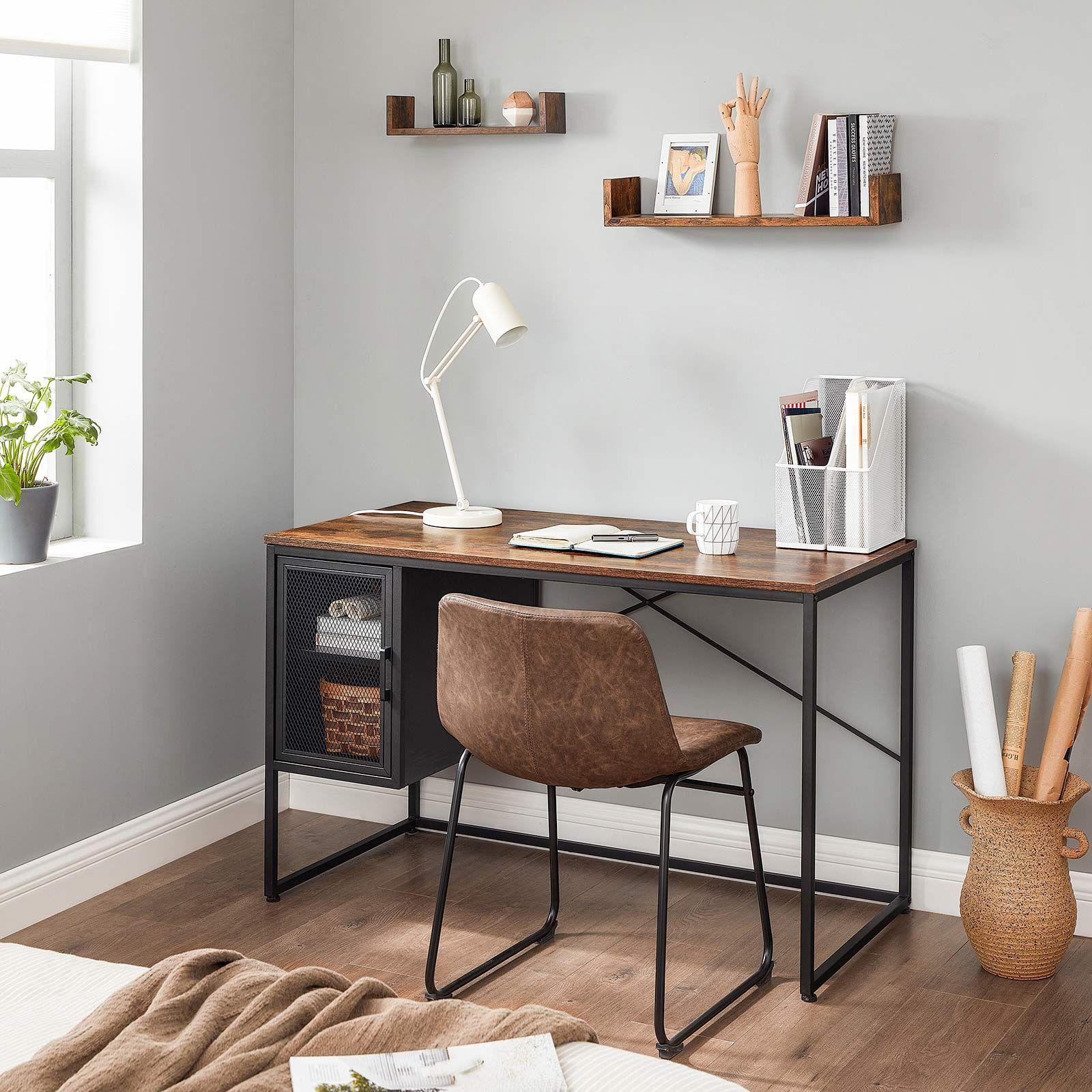 Computer Desk With Adjustable Shelf In 2021 Desk In Living Room Desks For Small Spaces Home Desk Small desk for living room