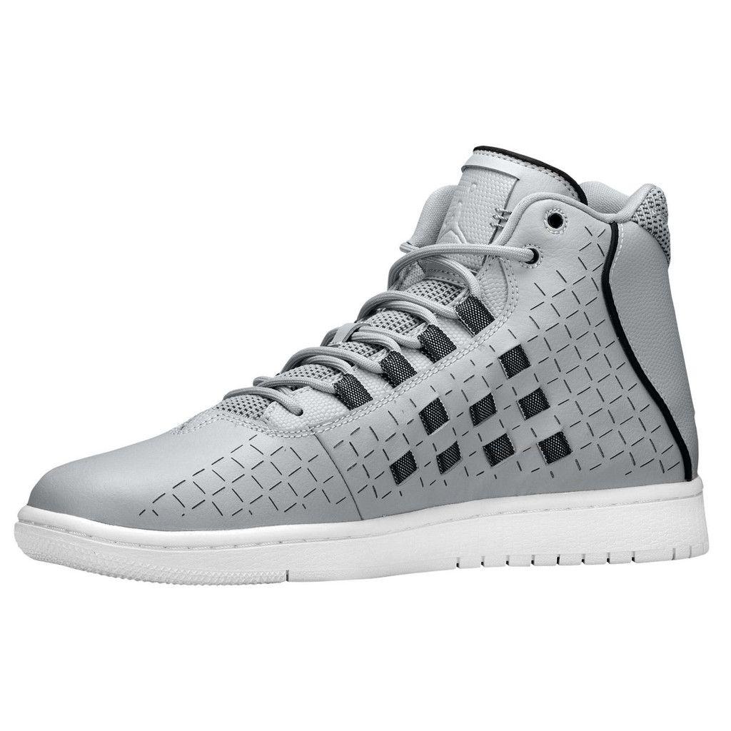 Mens Nike Jordan Illusion Wolf Grey & Black Casual Size 14 New Hi-Top Shoes