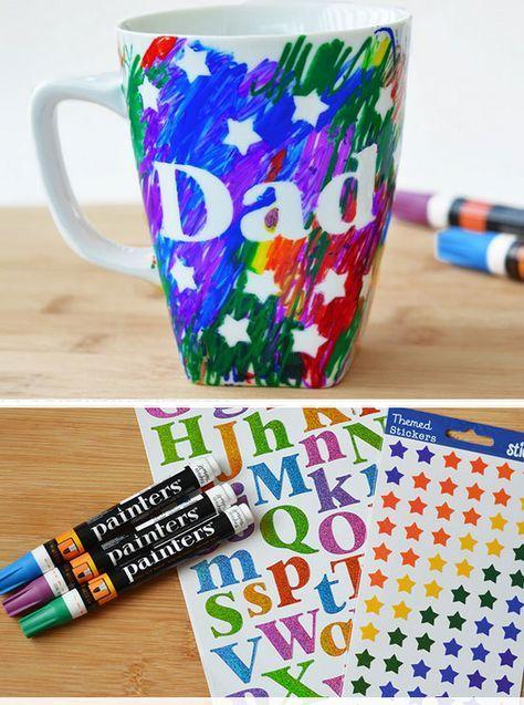 Fathers Day Scribble Mug