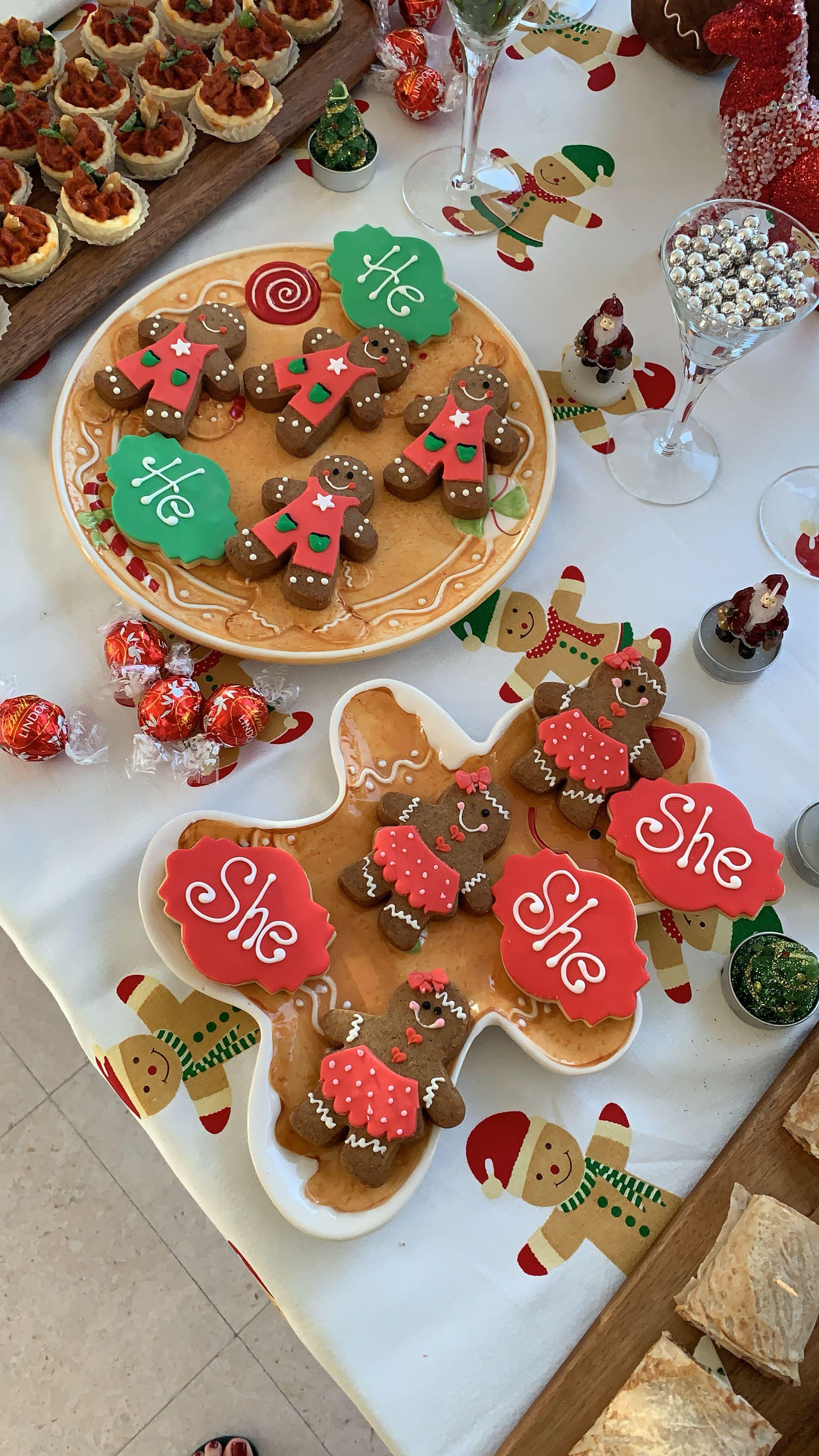 Christmas Gender Reveal Party Christmas Gender Reveal Gender Reveal Cookies Gender Reveal Party Food