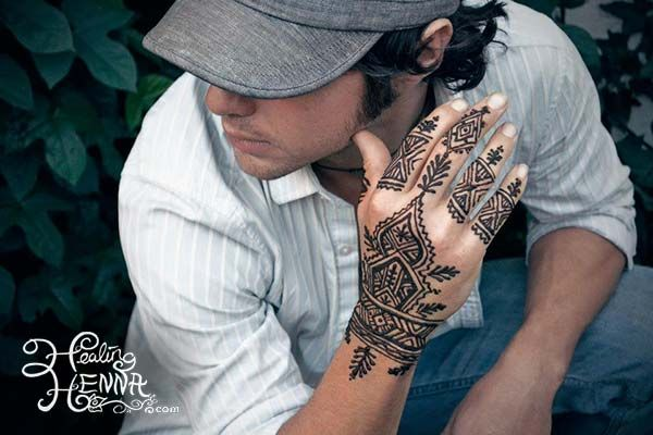 """Mens Henna Foot Tattoo: Henna On Guy's Hand. Certainly Not A """"swirly/girly"""" Design"""