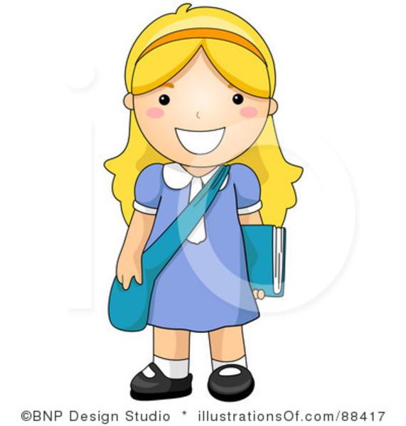 royalty free school girl clipart illustration girl pinterest rh pinterest com high school girl clipart middle school girl clipart