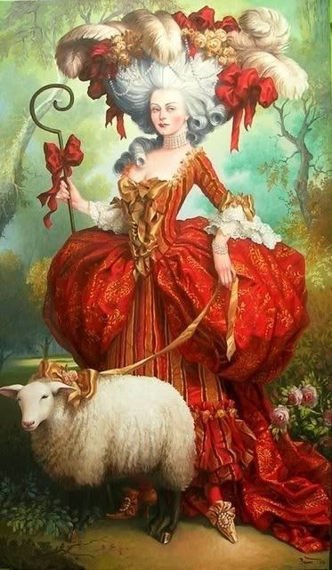 05da67c677e4 Marie Antoinette and her sheep | Each Sheep Hangs By It's Own Foot ...