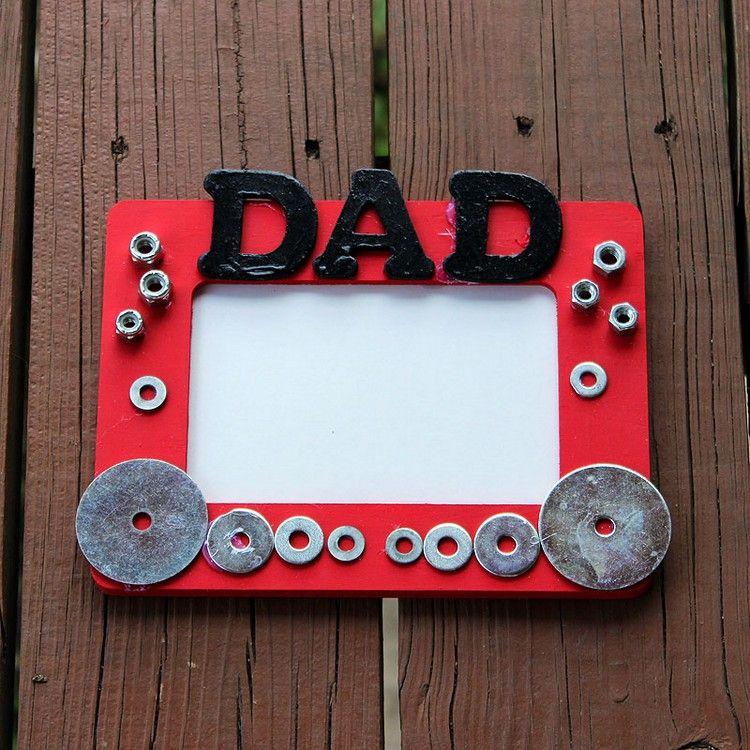 Vatertagsgeschenke Basteln Kinder Bilderrahmen Papa