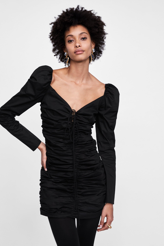 4ba4937b Image 2 of RUCHED DRESS from Zara Zara Shorts, Ruched Dress, Short Dresses,