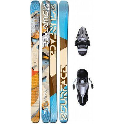 Surface Double Time 180 Skis + Tyrolia SL100 Ski Bindings