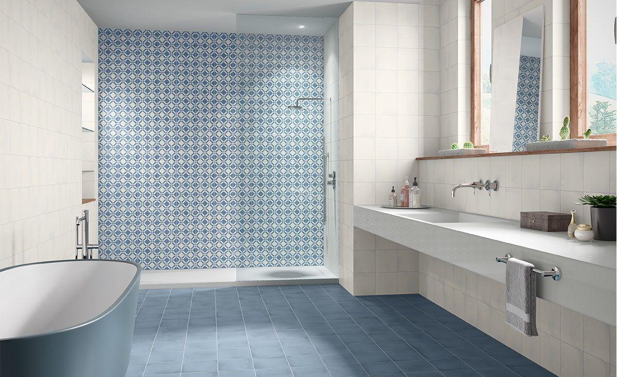 Retro Badezimmer Modern Blau Inspiration Fliesen Fur Das Bad