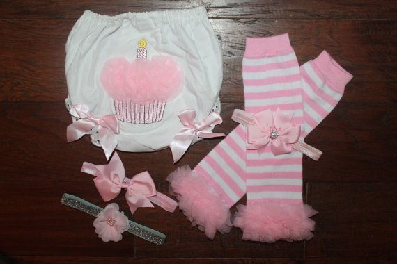 Hey, I found this really awesome Etsy listing at https://www.etsy.com/listing/217073953/baby-girl-birthday-bloomer-set-pink