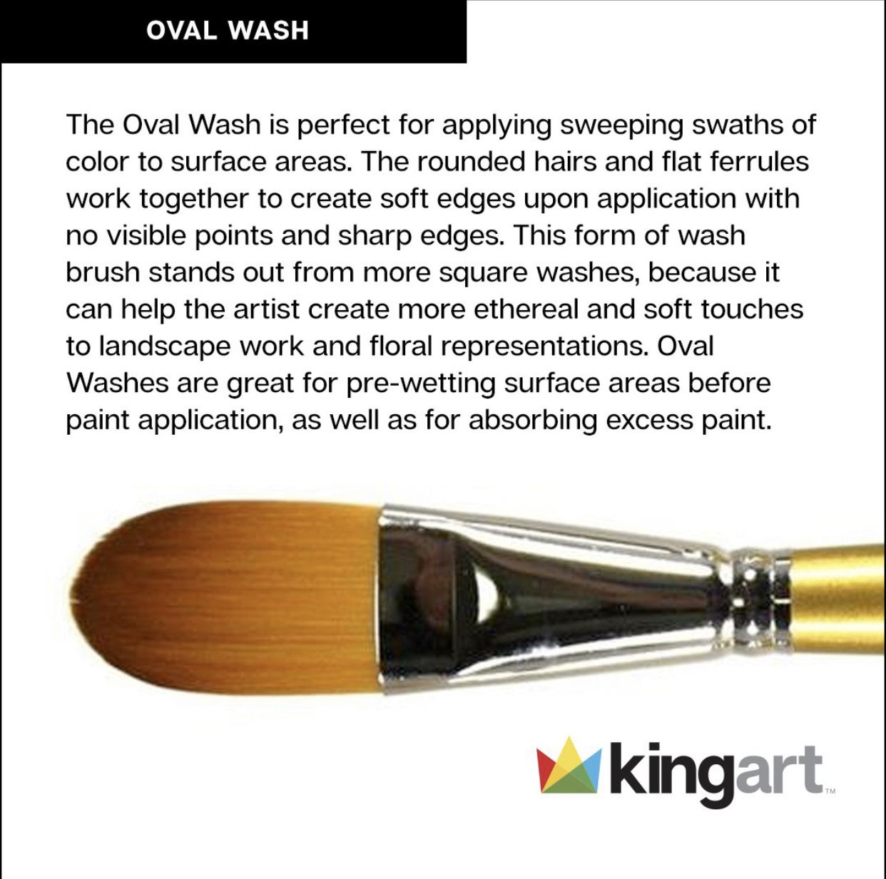 Original Gold 9600 Series, Golden Taklon Oval Wash Wash