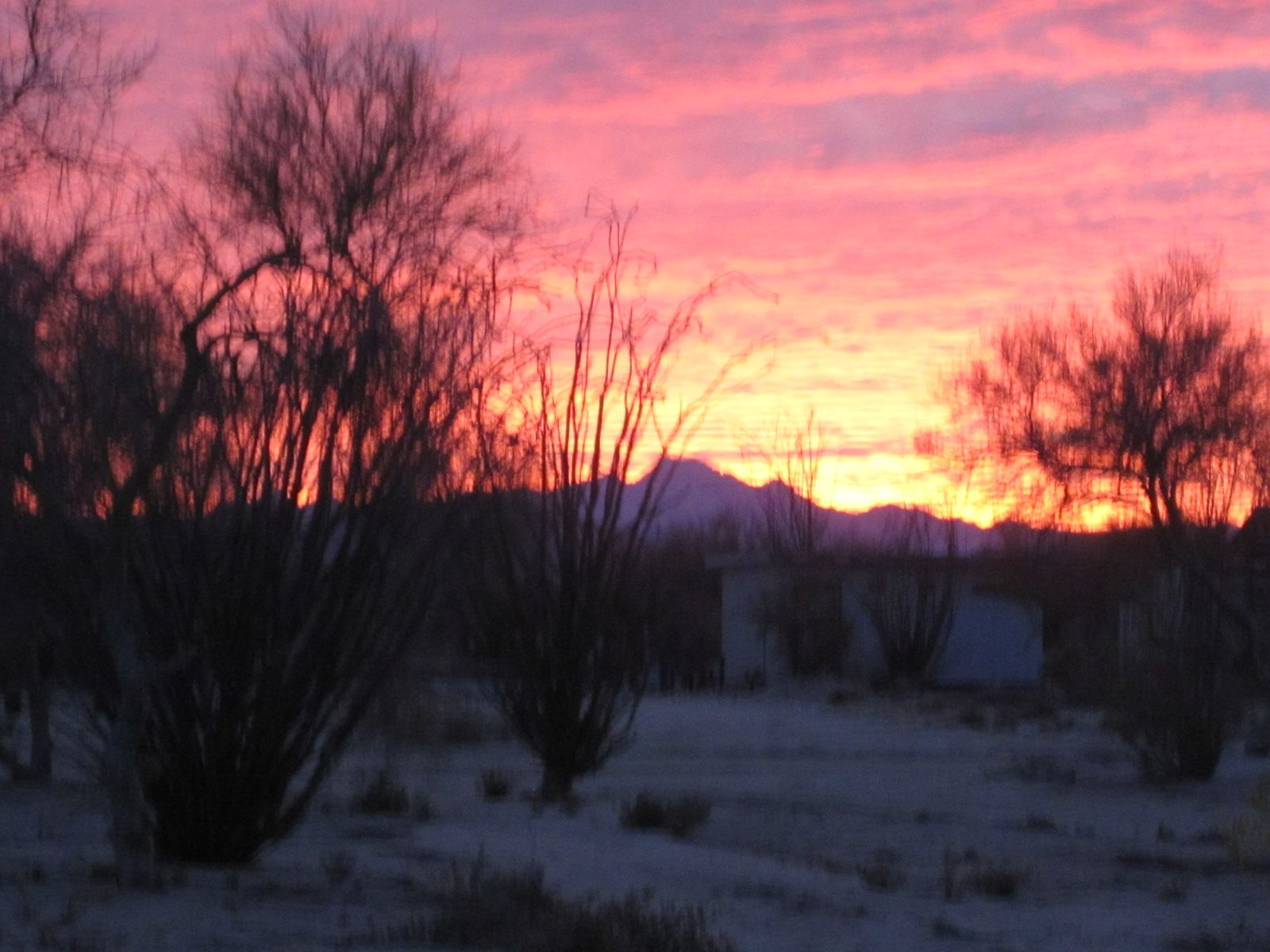 Sunset over Diablo Mountains