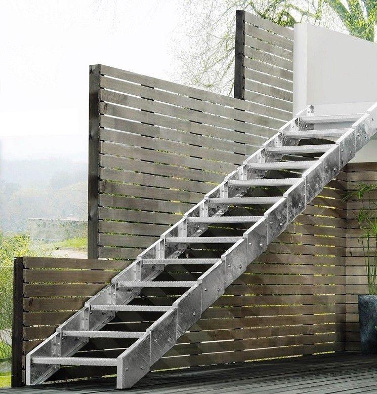 escalier exterieur galva