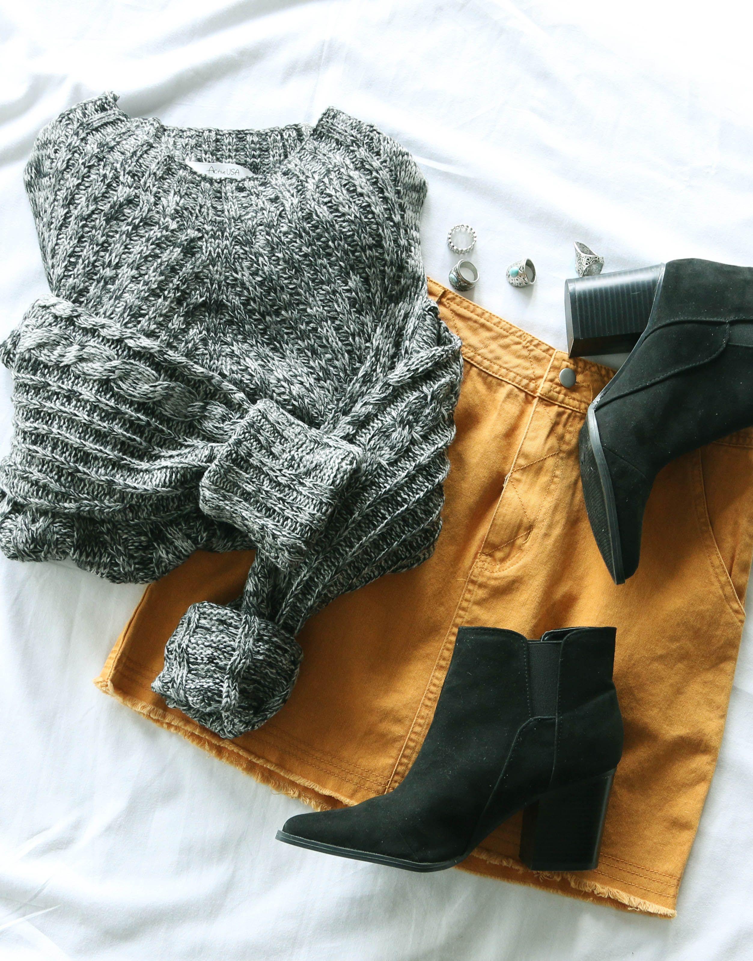 0507aa3b48 Honey Bell Denim Skirt - Mustard #lovepriceless   Outfit Ideas ...
