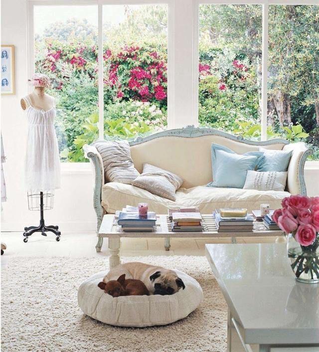 wohnzimmer französischer landhausstil shabby chic flair Ideen - wohnzimmer im landhausstil