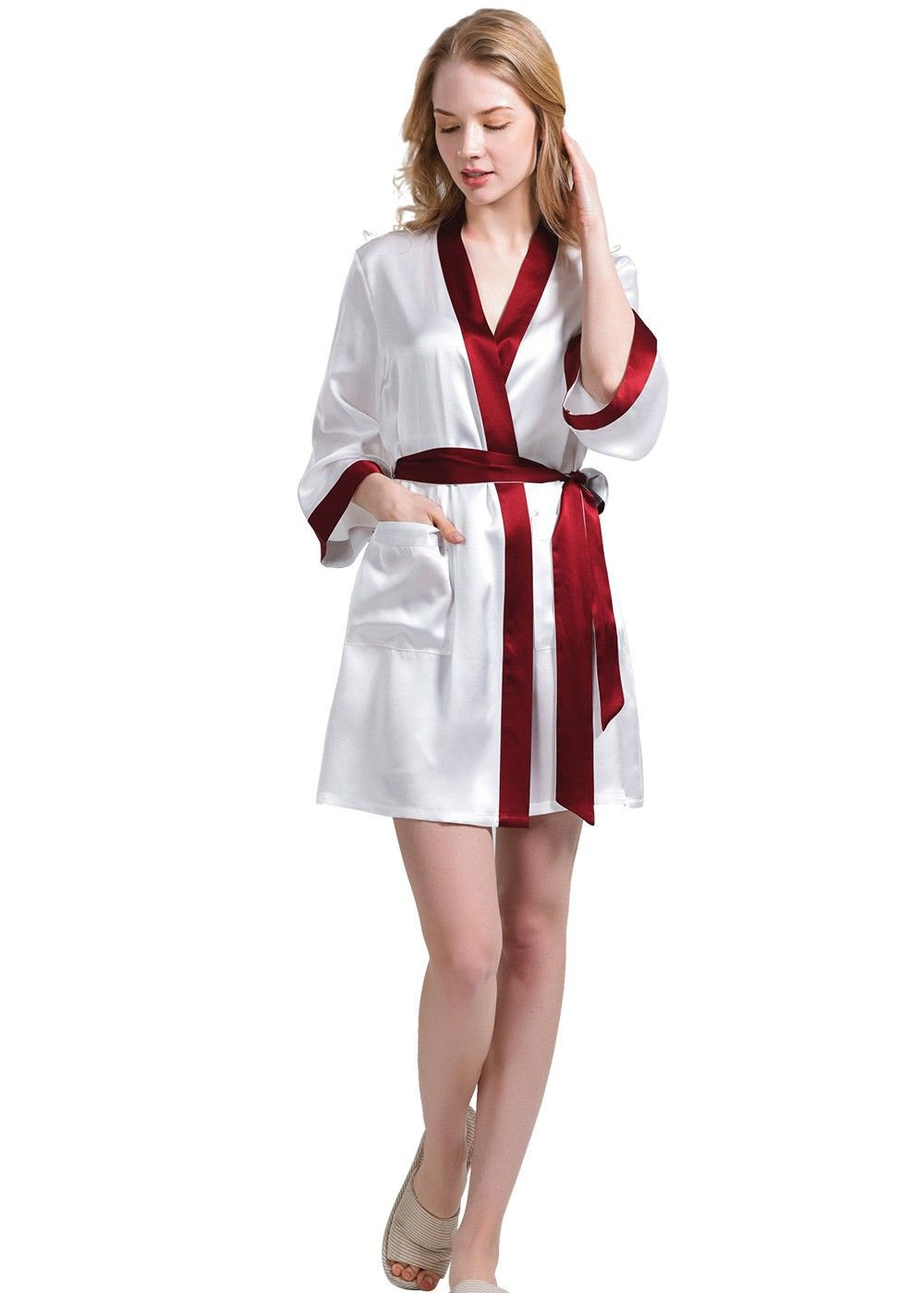 686671f528 Plus size 100% silk ladies dressing gown bath robe only from OOSILK
