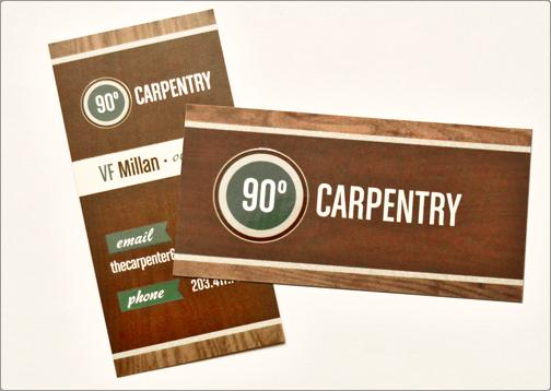 90 Degree Carpentry business card   Good Design   Pinterest ...
