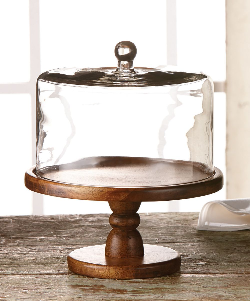 BETTER DRINKWARE Madera Pedestal Plate with Glass Dome (Madera Pedestal Plate With Dome 11.75 D X 12.5 H) Brown  sc 1 st  Pinterest & BETTER DRINKWARE Madera Pedestal Plate with Glass Dome (Madera ...